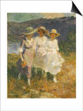 Walking in the Hills Print by Edward Henry Potthast