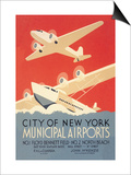 City of New York Municipal Airports Prints by Harry Herzog