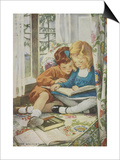 Young Boy and Girl Poster by Jessie Willcox-Smith