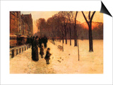 Boston in Everyday Twilight Poster by Childe Hassam