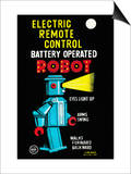 Electric Remote Control Battery Operated Robot Print