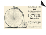 Bicycles, Tricycles, and Velocipedes Poster