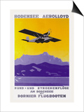 Bodensee Aerolloyd Flying Boat Tours Posters by Marcel Dornier