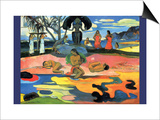 Mohana No Atua Print by Paul Gauguin