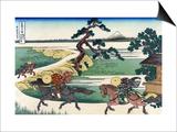Village of Sekiya at Sumida River Posters by Katsushika Hokusai