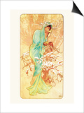 Winter Prints by Alphonse Mucha