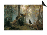 Bears in the Forest Morning Prints by Ivan Ivanovitch Shishkin