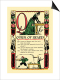 Q for Queen of Hearts Prints by Tony Sarge