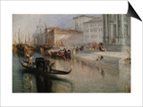 The Grand Canal in Venice Posters by J. M. W. Turner