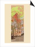 Iris Print by Alphonse Mucha