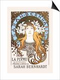Sarah Bernhardt Art by Alphonse Mucha