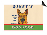 Rivet's Dog Food Art