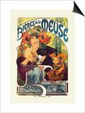 Bieres de le Meuse Poster by Alphonse Mucha