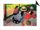 Afternoon Quiet Hour Art by Paul Gauguin