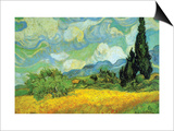 Cypresses Print by Vincent van Gogh