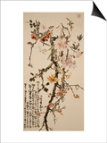 Ten Spring Flowers Poster by Gao Qifeng