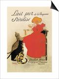 Lait Pur de la Vingeanne Sterilise Print by Théophile Alexandre Steinlen