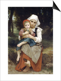 Breton Brother and Sister Posters by William Adolphe Bouguereau