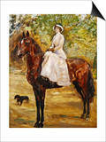 Woman in White Riding a horse Posters by Max Slevogt