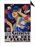 Geneve, Fete Des Fleurs, 1927 Plakater
