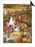 The Wounded Squirrel Prints by John Anster Fitzgerald