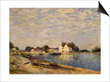 Saint-Mammes, on the Banks of the Loing Prints by Alfred Sisley