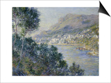 A View of Cape Martin, Monte Carlo Prints by Claude Monet