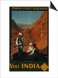 Visit India, Indian State Railways, circa 1930 Posters by William Spencer Bagdatopoulus