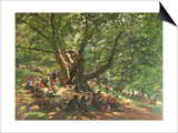 Robin Hood and His Merry Men in Sherwood Forest, 1859 Art by Edmund Warren George