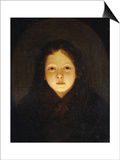 A Girl, Head and Shoulders Kunstdruck von Petrus Van Schendel
