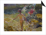 The Bath, Javea Posters by Joaquín Sorolla y Bastida