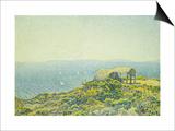 L'Ile Du Levant, Vu Du Cap Benat Affischer av Théo van Rysselberghe