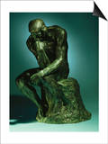 The Thinker, Le Penseur, Bronze with Black Patina, c.1880-1882 Art by Auguste Rodin