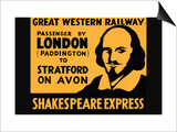 Shakespeare Express Prints