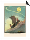 Wynken, Blynken, and Nod Sailed Off in a Wooden Shoe Prints by Eugene Field