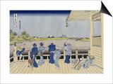 Sazai Hall of Five-Hundred-Rakan Temple Print by Katsushika Hokusai