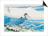 Fishing in the Surf Prints by Katsushika Hokusai