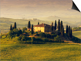 Tuscan Villa at Sunrise Prints by Frank Krahmer