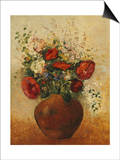 Vase of Flowers Print by Odilon Redon