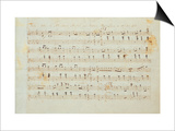 Autographed Manuscript Signed and Dedicated of the Grande Valse Brilliante, Opus 18 in E Flat Major Poster by Fryderyk Chopin
