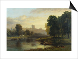 View of Windsor Castle from Across the Thames, 19th Century Print by George Hilditch