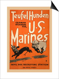 Teufel Hunden German Nickname for U S Marines Prints by Charles Buckles Falls