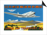 Japan Air Transport Label Art