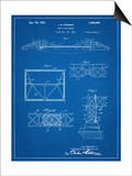 Golden Gate Bridge Patent, Long Span Bridge Print