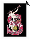 La Compagnie Singer Machines a Coudre Prints by Leonetto Cappiello