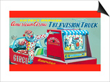 American Circus Television Truck Print