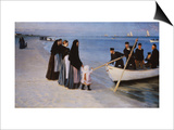 The Departure of the Fishing Fleet, 1894 Art by Peder Severin Kröyer