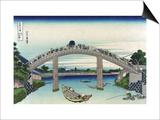 Edo Zdo Bridge Poster by Katsushika Hokusai
