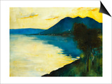 Bergsee at Sunset; Bergsee Am Sonnenuntergang Print by Lesser Ury