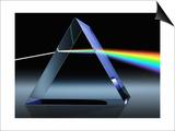 Light Beam Through Glass Prism Affiche par Matthias Kulka